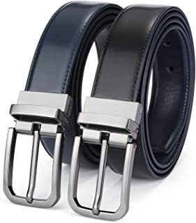 Reversible Belts for Men, XGeek Mens Leather Reversible Belt 1.25