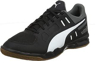 Puma Men's Auriz Black White-Castlerock-g Badminton Shoes