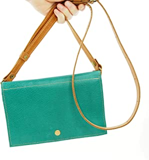Festival Belt Bag Converts to Cross Body Purse in Teal Blue Leather
