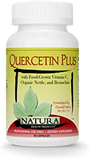 Natura Health Products - Quercetin Plus - Quercetin with Highly Bioavailable Food-Grown Vitamin C, Organic Nettle and Brom...