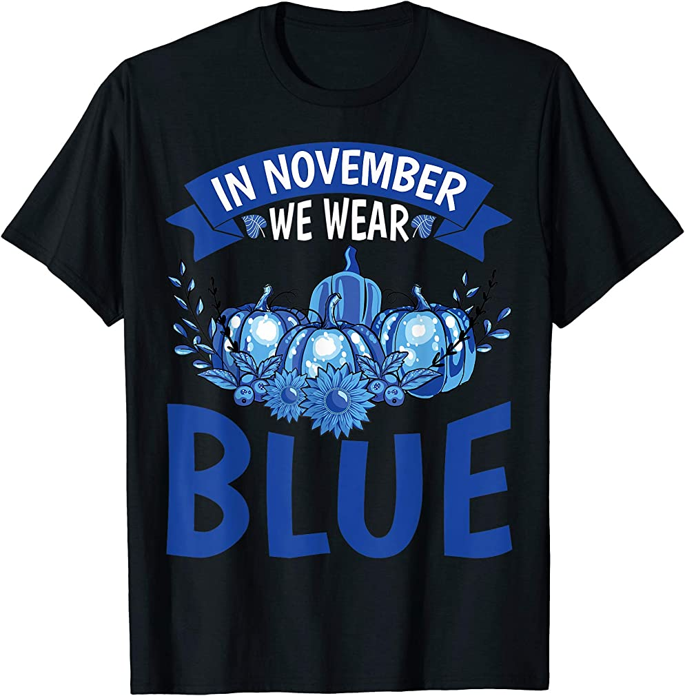 Diabetes Awareness Tee - November We Wear Blue Pumpkins T-shirt