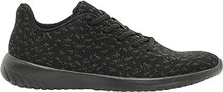 Shoexpress Men's Printed Lace-Up Running Shoes, Black