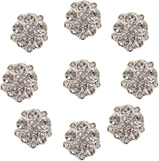 Arlai Box of 40pcs 15mm Irregular Rhinestone Flower - Button DIY Wedding Decoration, Accessory Decoration