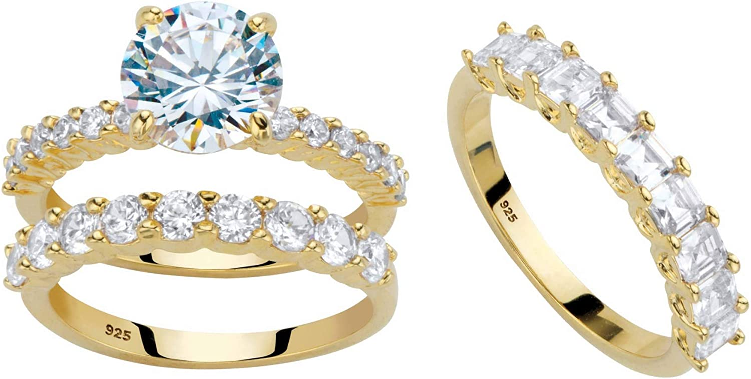 14k Gold or Platinum Plated Fashion Sterling New mail order and Silver Princess Round C