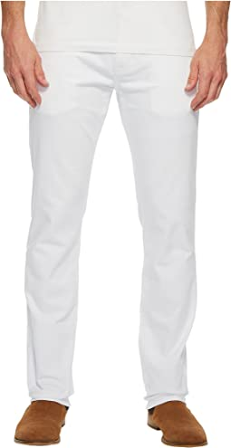 Marcus Regular Rise Slim Straight Leg in White Williamsburg