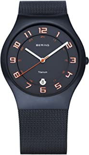 BERING Time 11937-393 Classic Collection Watch with Mesh Band and Scratch Resistant Sapphire Crystal. Designed in Denmark.