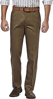 Sponsored Ad - Haggar Men's Premium No Iron Khaki Straight Fit Flex Waistband Flat Front Pant