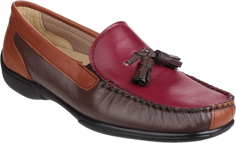 Cotswold Womens Biddlestone Slip On Loafer shoes Chestnut Tan Wine Size UK 6.5 EU 40
