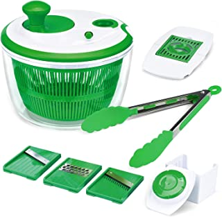 Iseason Salad Spinner, Large Vegetable Washer Dryer with Bowl, Lettuce Washer with..