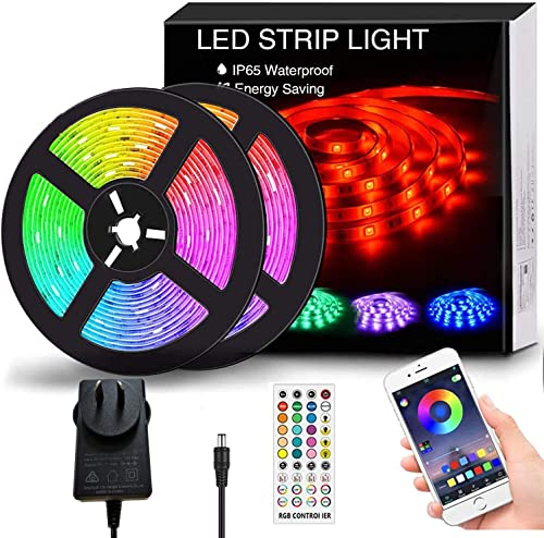 Findyouled 12M LED Strip Lights, SMD 5050 Lights Strip Music Sync, App Control with Remote, LED Rope Light for Bedroo...