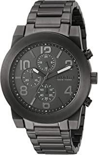 Caravelle New York Men's Quartz Watch with Stainless-Steel Strap, Grey, 12 (Model: 45A124)