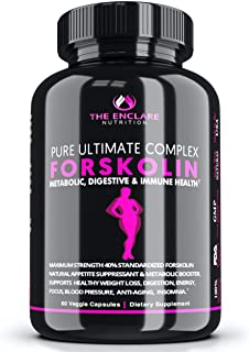 100% Pure FORSKOLIN Extract for Weight Loss, Belly Buster, Appetite Suppressant, Burn Fat, Lose Weight Fast, Lose Belly Fa...