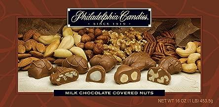 Philadelphia Candies Milk Chocolate Covered Assorted Nuts, 1 Pound Gift Box (Almond, Brazil, Cashew, Hazelnut, Pecan, Walnut)