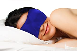 Dream Essentials Sweet Dreams Comfortable & Contoured Sleep Mask with Carry Pouch and Moldex Ear Plugs (Royal Blue)