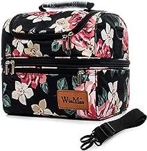 Sac Repas Lunch Bag//D/éjeuner Lunch Bag Portable//Main pour Pique-nique//Barbecue//Voyage//Camping//Plage//Bureau//Voiture gris, 21x14x15cm