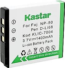 Kastar Battery for Fuji Np-50, Kodak KLIC-7004, Pentax DL-I68 and Fuji Finepix F50fd F100fd, Fujifilm FinePix F70 EXR F75EXR F80EXR F300EXR, Kodak EasyShare V1233 V1253, Pentax Optio A40 S10 Cameras