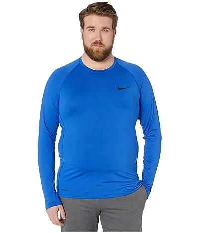 Nike Big Tall Pro Top Long Sleeve Slim (Game Royal/Black) Men