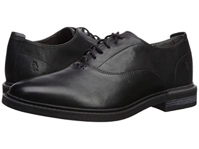 Hush Puppies Davis Slip-On Oxford (Black Leather) Men