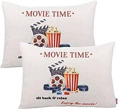 Queenie - 2 Pcs Movie & Music Theme Decorative Pillow Cases Throw Cushion Covers 35 cm x 50 cm 13.75 x 19.75 Inch (Movie Time B Rectangular)