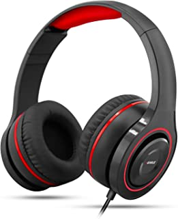Gaming Headset, Music Headset 3.5 mm Jack Surround Stereo Wired Over Ear Headphones Mic Noise Isolating Rotate Volume Cont...