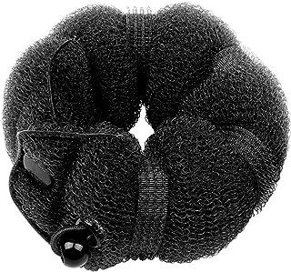 Goldrose Beauty Buns 2 Pieces Magic Hair Styling Styler Twist Ring Former Shaper Doughnut Donut Chignon Bun Maker Clip Hair Curler Accessory Middle & Large (Black)