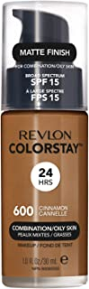 Revlon ColorStay Liquid Foundation For Combination/oily Skin, SPF 15 Cinnamon, 1 Fl Oz