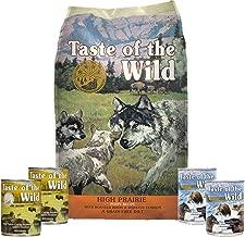 Taste of the Wild Dog-Food High Prairie Puppy Food Grain Free 6 Pack 1 5lb Bag 4 Cans & 1 Lid