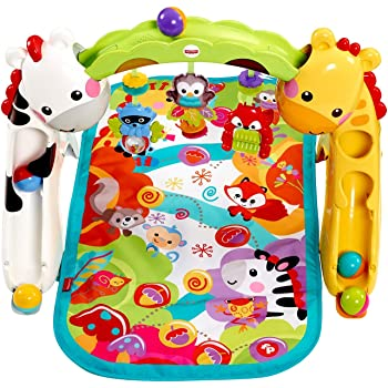 Fisher-Price Original Newborn to Toddler Baby Play Gym - Colourful Activity Playmat with Toys for Development