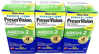 PreserVision AREDS 2 Eye Vitamin & Mineral Supplement with Lutein and Zeaxanthin, Soft Gels, 3 Pack (210ct Each) GHO#IER