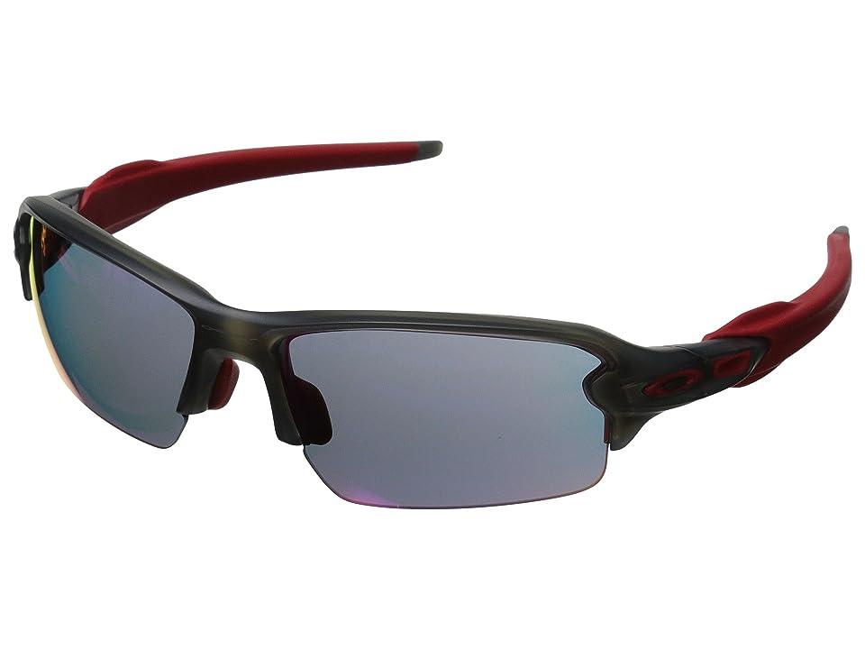 Oakley (A) Flak 2.0 (Matte Grey Smoke w/+ Red Iridium) Sport Sunglasses