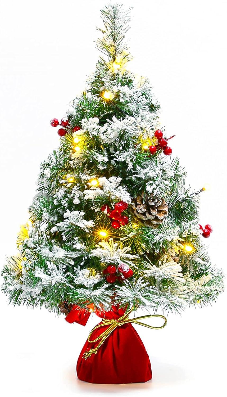 Sunnyglade 21.6 inch Snow Flocked Mini Christmas Tree Max 81% OFF Artificial Albuquerque Mall