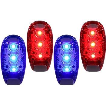 Juego de 2 brazaletes de seguridad con LED rojo de alta visibilidad para correr trotar pesar mascotas PK Green