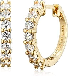 Amazon Essentials Plated Sterling Silver Hinged Huggie Hoop Earrings