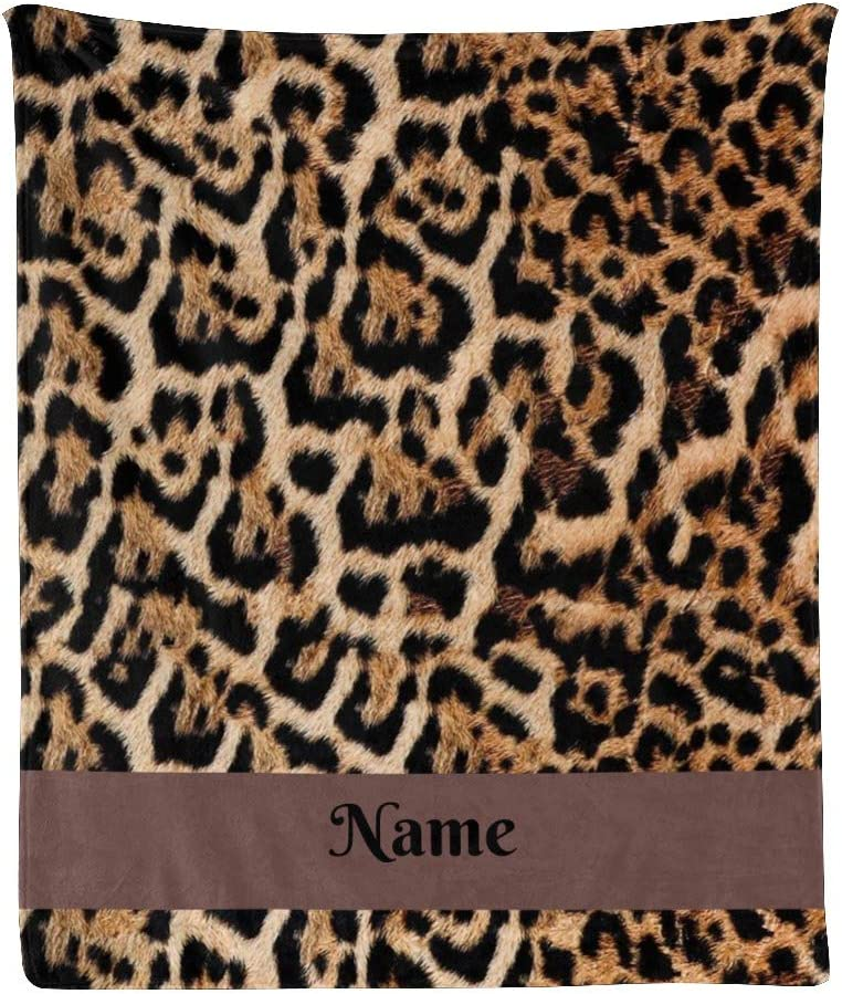 CUXWEOT Custom Blanket with Name Skin Leopard Personalized 限定Special Price 2020秋冬新作 Text