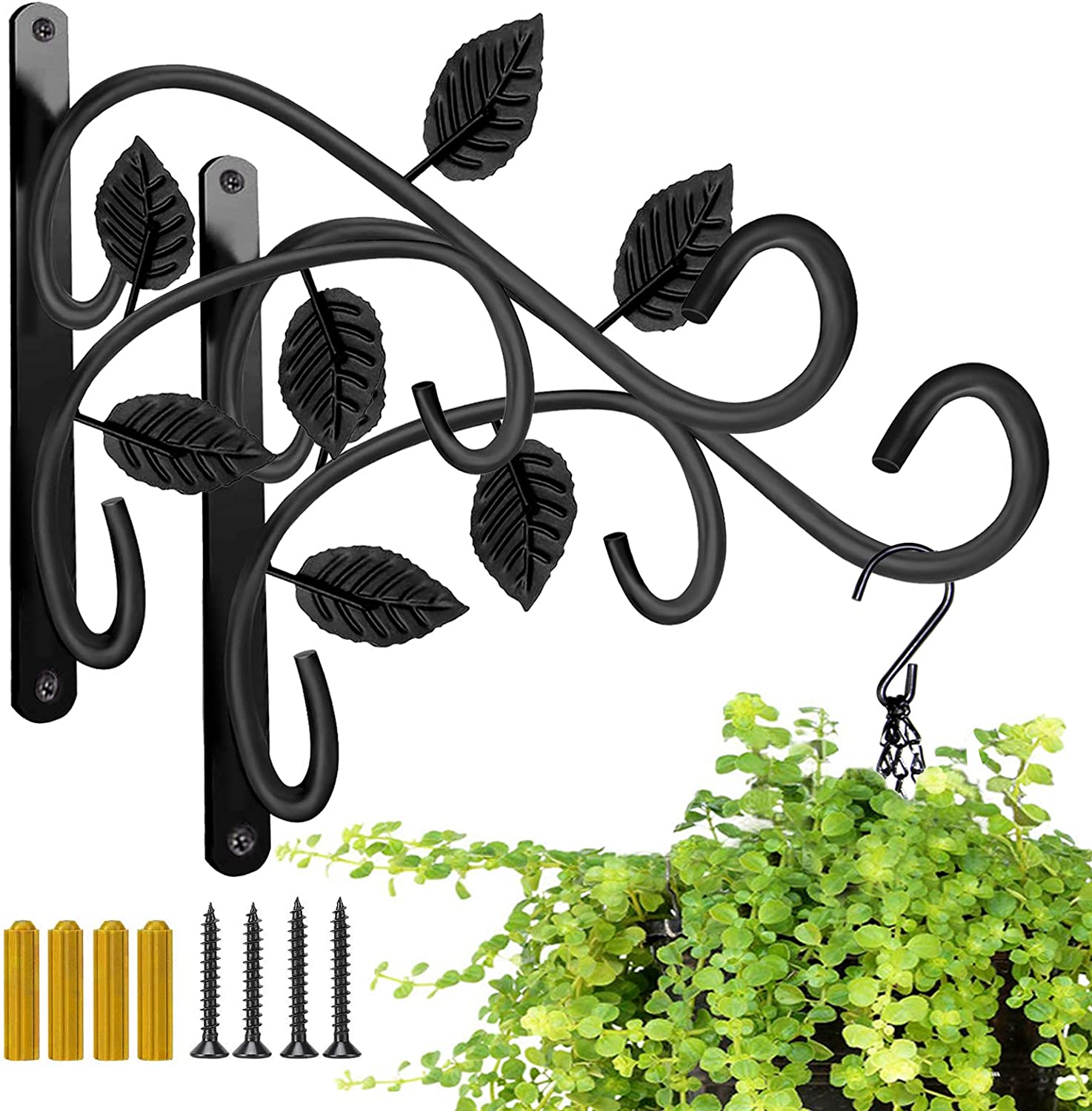 Hanging Plant Quantity limited Bracket JUNBEI Free shipping Wall Mount 12 Inches