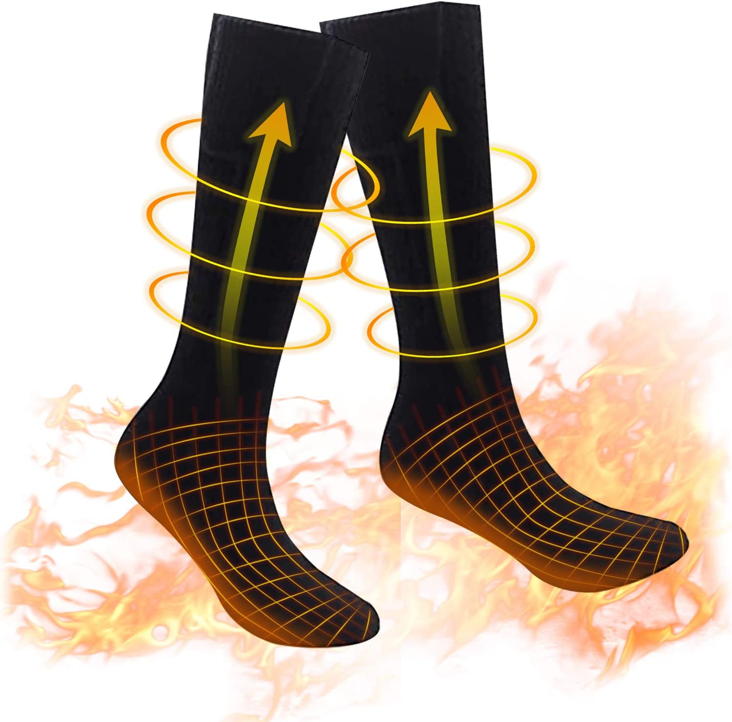 Eebuy Heated Warm Thermal Super Special SALE held Socks S Batteries Cold Weather Ranking TOP18