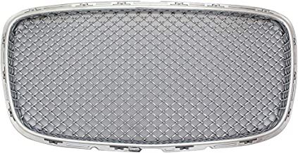 Grille Compatible With 2015-2017 Chrysler 300 300C 300S | B Style Chrome Front Upper Bumper Grill Hood Mesh by IKON MOTORSPORTS | 2016