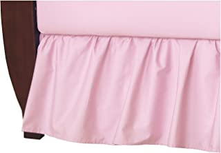 American Baby Company 100% Natural Cotton Percale Ruffled Crib Skirt, Pink, Soft Breathable, for Girls