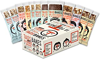 Taos Bakes Energy Bars - Crowd + Pleaser - 'All-In-One' (Box of 12, 1.8oz Bakes) - Gluten-Free, Non-GMO, Healthy Snack Bars