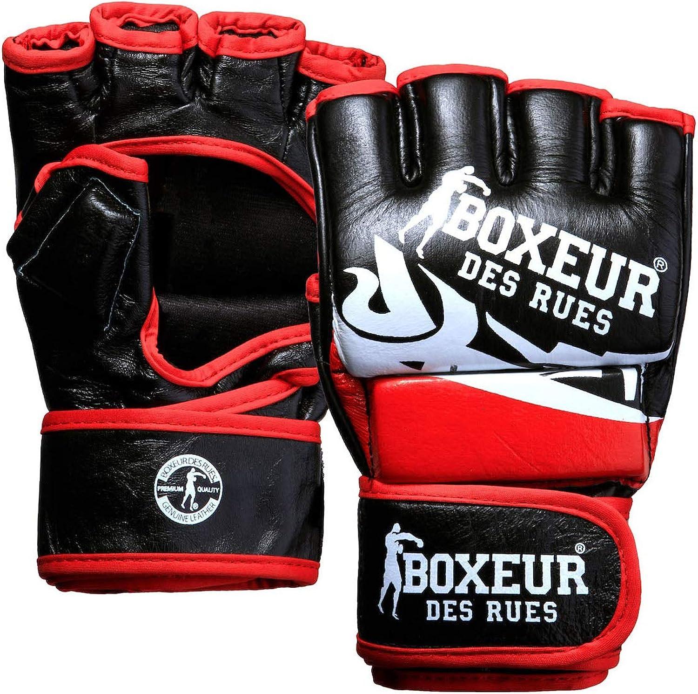BOXEUR DES RUES Premium Logo Leather Boxing Gloves Unisex