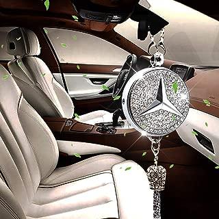 VILLSION Car Logo Fragrance Air Freshener Rearview Mirror Pendant Car Perfume Scent with Gift Box