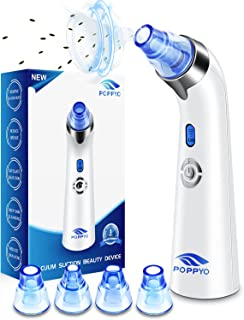 Blackhead Remover Vacuum, POPPYO Blackhead Pore Vacuum, Electric Facial Blackhead & Blemish Removers Cleaner, Blackhead Va...