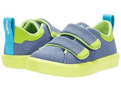 Native Kids Shoes Monaco CT Canvas (Toddler) (New Dark Blue/Chartruese Green) Boy