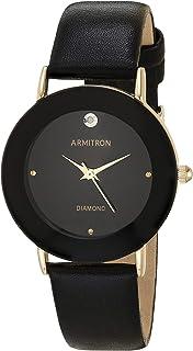 ساعة يد بسوار من الجلد الأصلي للنساء من Armitron