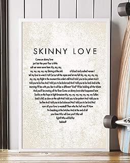 Mattata Skinny Love Lyrics Portrait Poster Print (12
