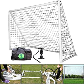 Eco Walker Inflatable Soccer Goal with Net, Carrying Bag, Two Way Pump, Set Up in 30Seconds, Safe Durable and Portable for Kids and Training