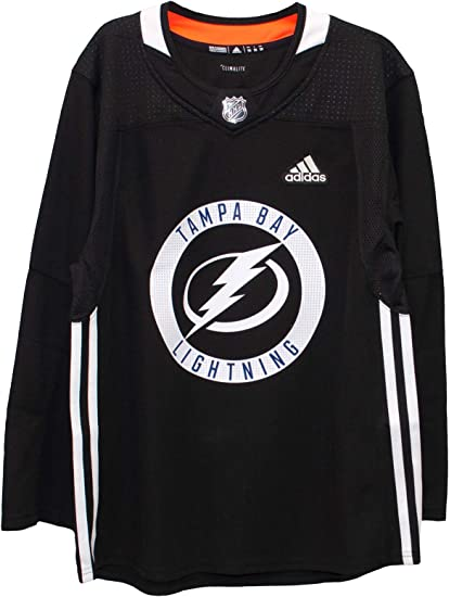 adidas Tampa Bay Lightning NHL Men's Black Climalite Authentic Practice Jersey