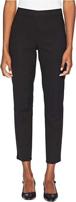 Drapey Tencel Stretch Slim Ankle Pants