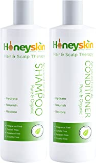 Hair Growth Shampoo and Conditioner Set - with Manuka Honey, Aloe Vera and Coconut Oil - for Frizzy, Itchy and Dry Scalp -...