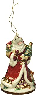 Fitz and Floyd 49-678 Renaissance Holiday Dated 2017 Bell, Santa Ornament